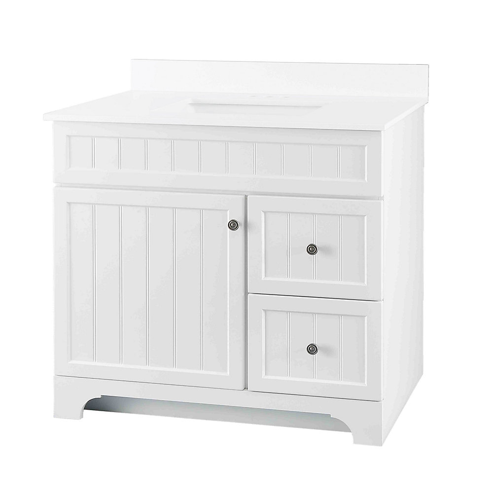 Whitton 37-inch W 2-Drawer Vanity with Engineered Stone Top