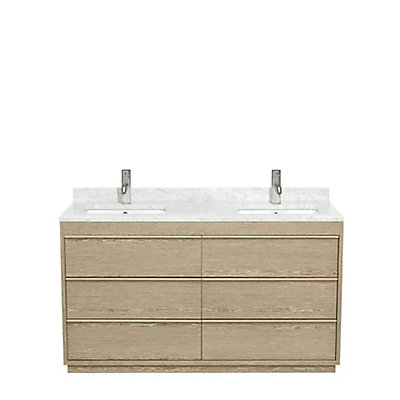 Wyndham Collection Muriel 60 Inch Double Bathroom Vanity in Sand ...