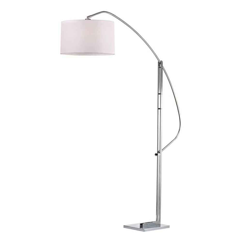 78572a2661 Assissi 50 inch Adjustable Floor Lamp in Polished Nickel Photo of product
