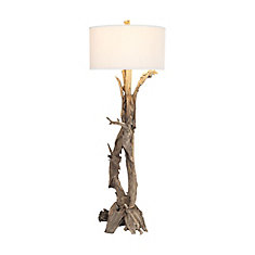 Hounslow Heath 68 Inch 1 Light Floor Lamp In Natural Teak Root