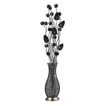Titan Lighting Lampe à pied Cyprus Grove de 55 po avec fleurs au ...