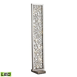Titan Lighting Basinger 60 Inch Abstract Metalwork LED Floor Lamp in Silver