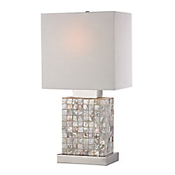 Titan Lighting 17 Inch Mini Mother Of Pearl Lamp