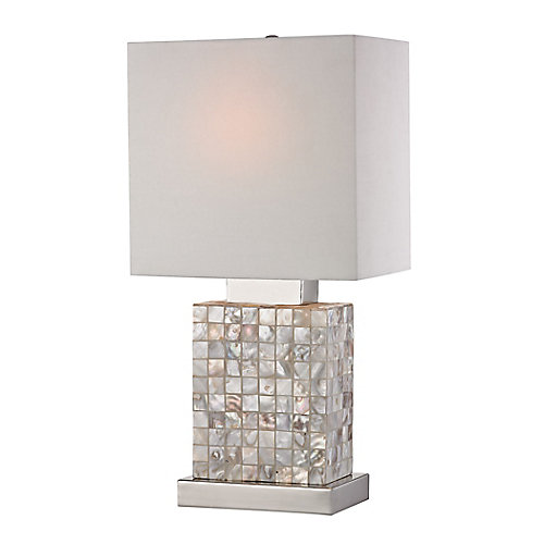 17 Inch Mini Mother Of Pearl Lamp
