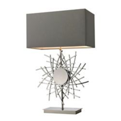 Titan Lighting Cesano 31 Inch Abstract Formed Metalwork Table Lamp in Polished Nickel