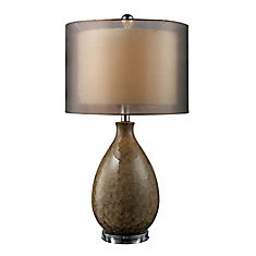 Brockhurst 28 Inch Table Lamp In Francis Fawn Finish With Bronze Organza Shade