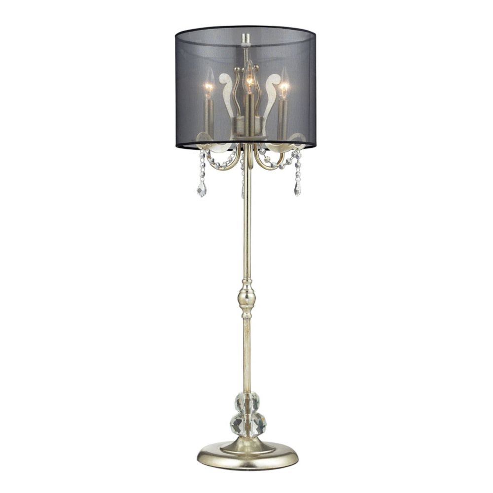 Andover 37 Inch Tall Buffet Lamp In Siver