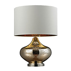 Titan Lighting 26 Inch Blown Glass Table Lamp in Gold Antique Mercury Glass And Polished Nickel