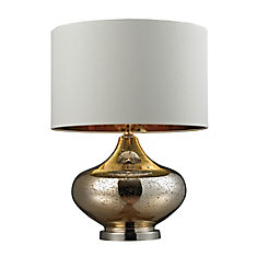 26 Inch N Gl Table Lamp In Gold Antique Mercury