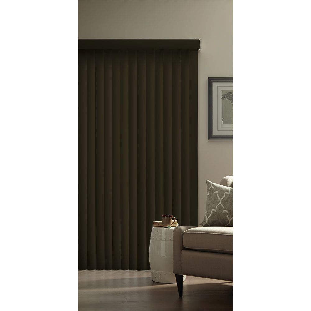 Hampton Bay 3.5-inch Vertical Blind Kit Espresso 78-inch x 84-inch