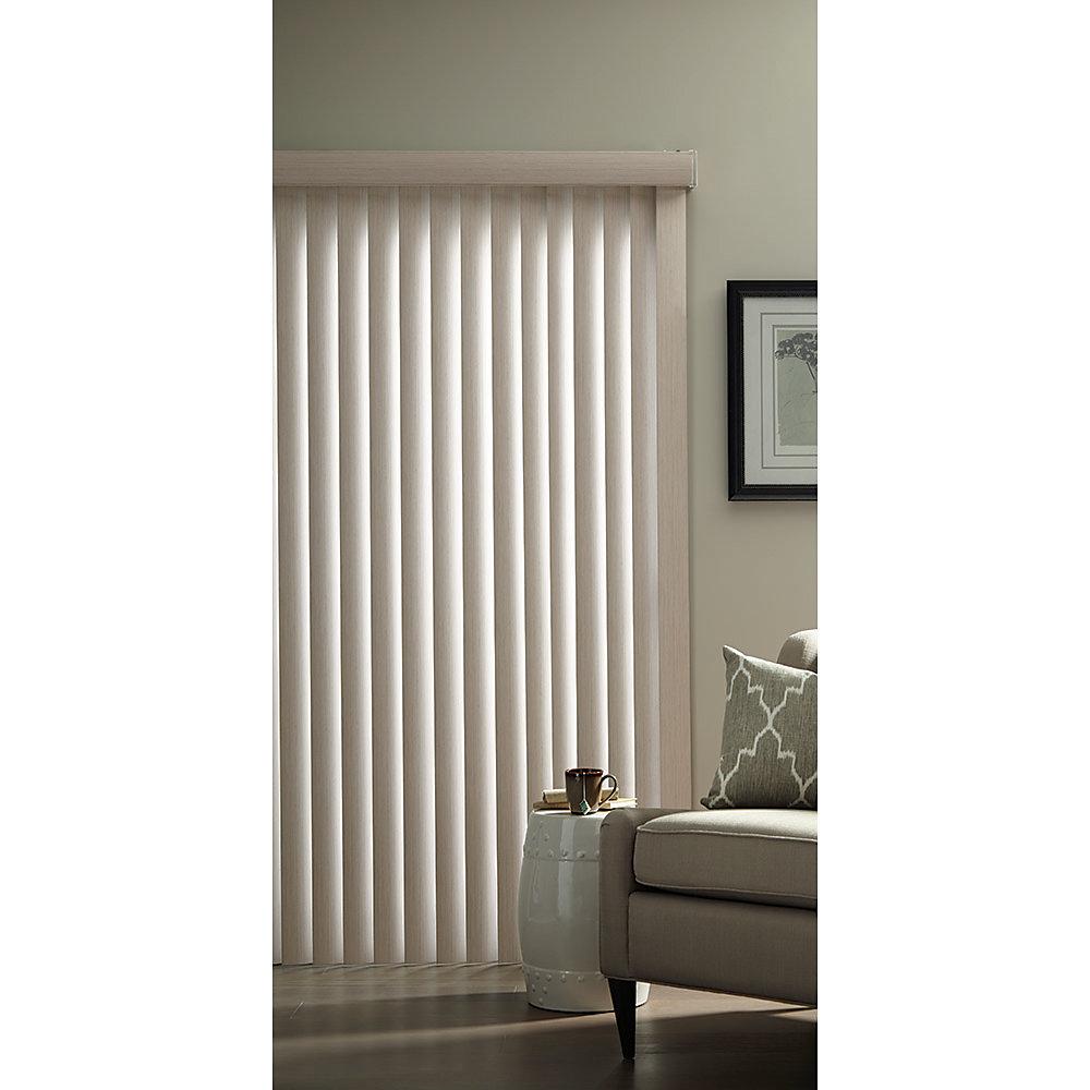 Ensemble de store vertical de 8,8 cm Fini embossé blanc rustique 1,98 m L x 2,13 m H