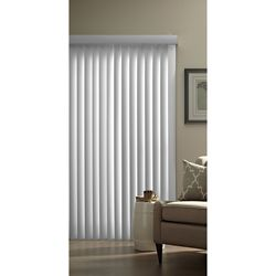 Hampton Bay 3.5-inch Vertical Blind Louvers White 84-inch Height