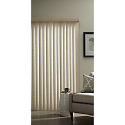 Hampton Bay 3.5-inch Vertical Blind Louvers Textured Khaki 84-inch Height