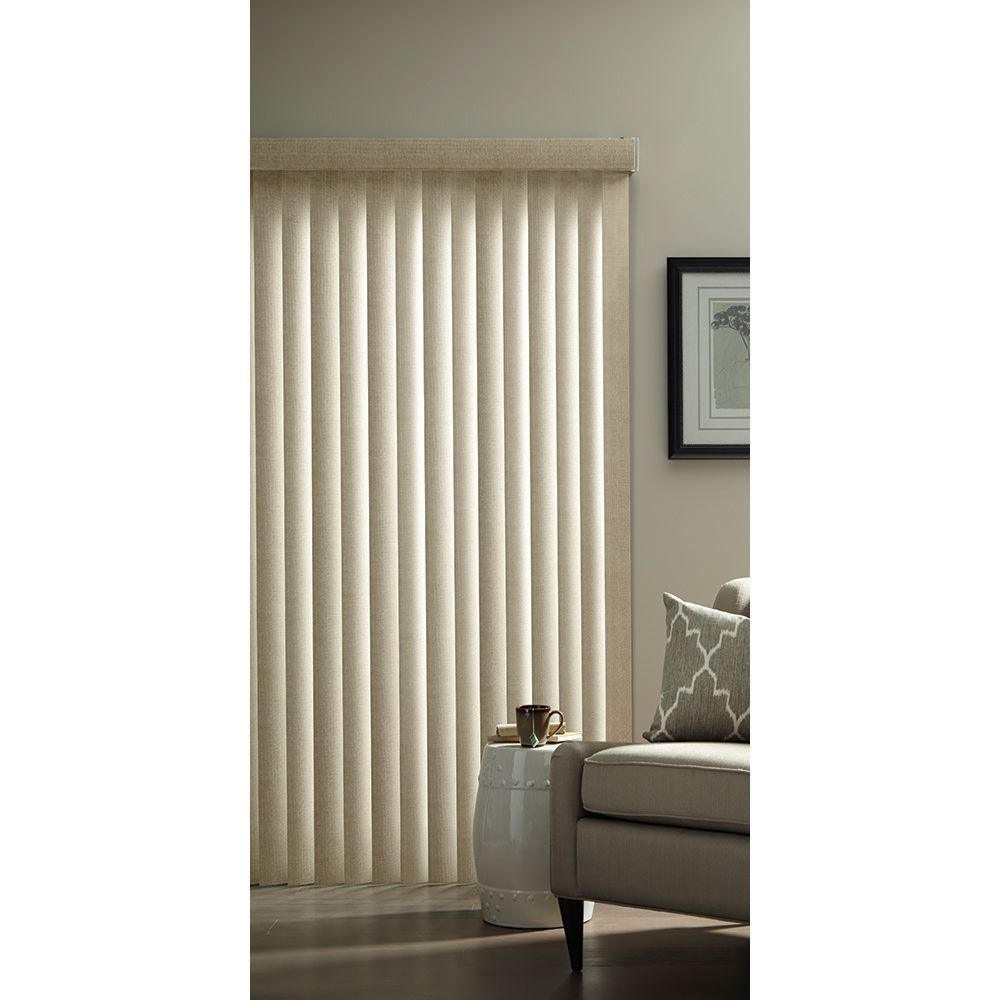 Hampton bay 3 5 inch vertical blind louvers textured khaki