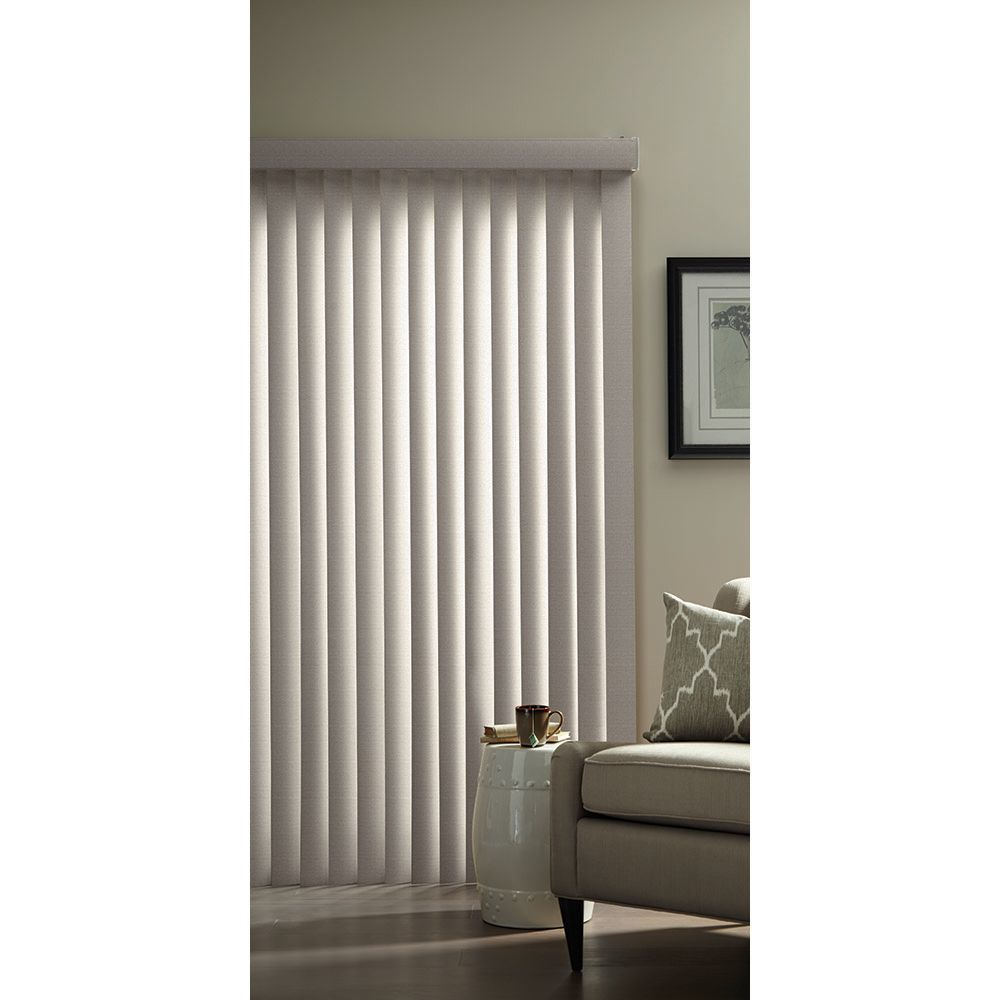 Hampton Bay 3.5-inch Vertical Blind Louvers Pearl Grey 84-inch Height