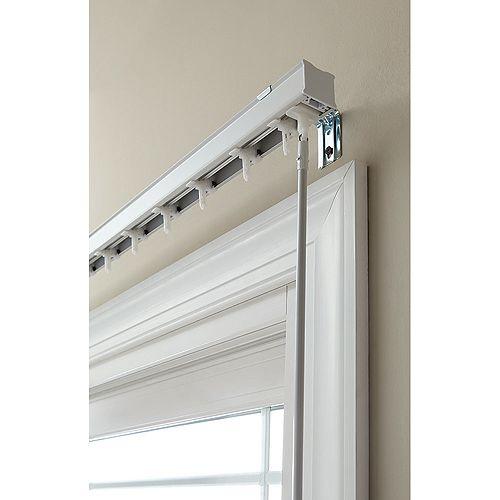 Hampton Bay 78 -inch W Head Rail for 3-1/2 -inch Vertical Blind in White