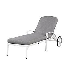 Blossom floral blanc Chaise Chaise w / Cushion