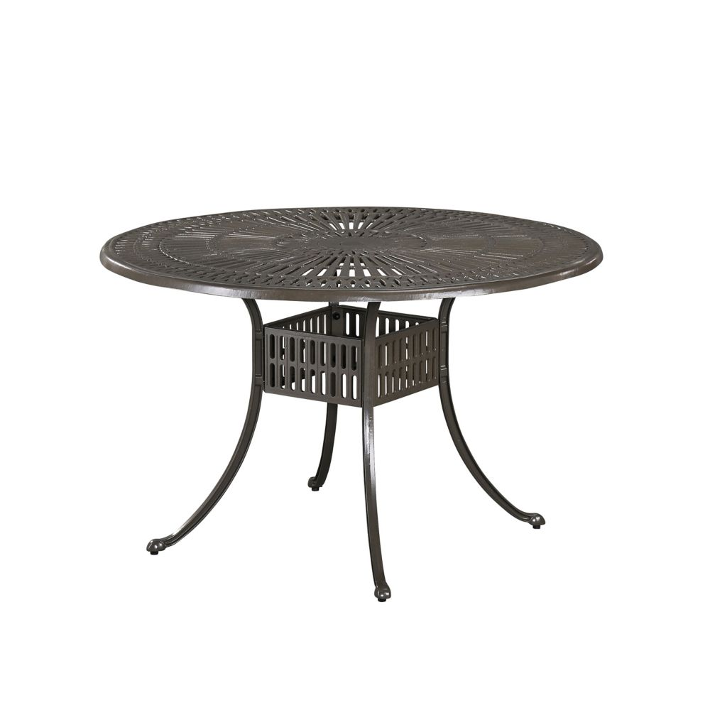 Home Styles Largo 48-inch Round Outdoor Dining Table