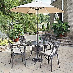 Ensemble dinant 5PC Largo w / parasol et coussins
