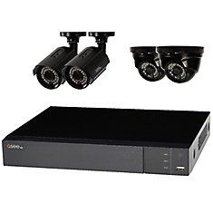 HD Analog 8 Channel DVR with 4 1080p Cams 2 Dome 2 Bullet , 2TB HDD