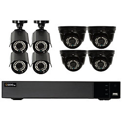 Q-See 16 Channel Analog HD 1080p DVR with half bullet / dome 1080p 2TB