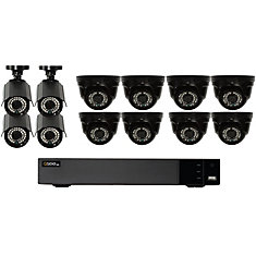 16 Channel Analog HD 1080p DVR with 8 Dome / 4 Bullet Cams 2TB HDD
