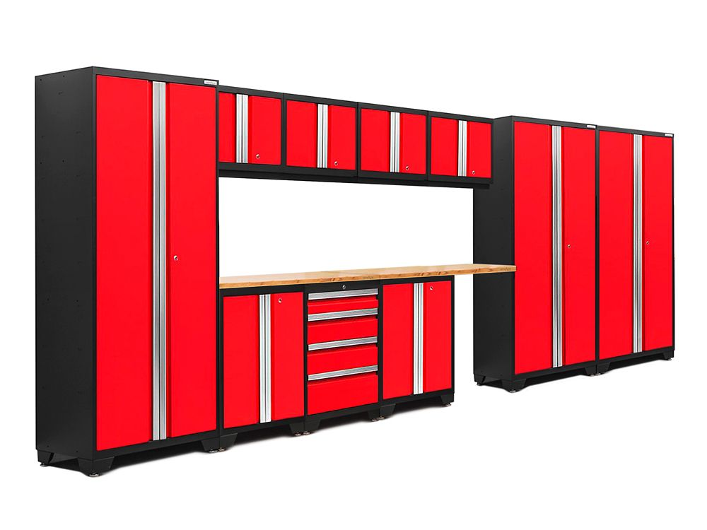 NewAge Products Bold 3.0 Series Red Cabinet Set (12-Piece)