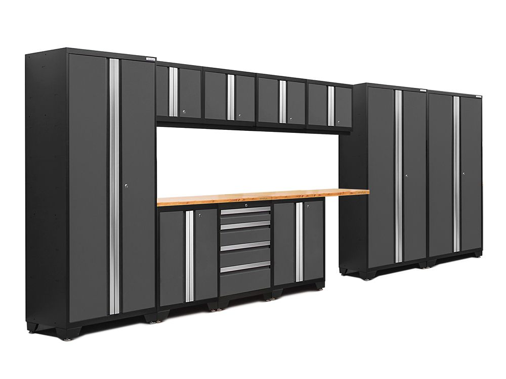 NewAge Products Bold 3.0 Series 12-Piece Cabinet Set in Grey