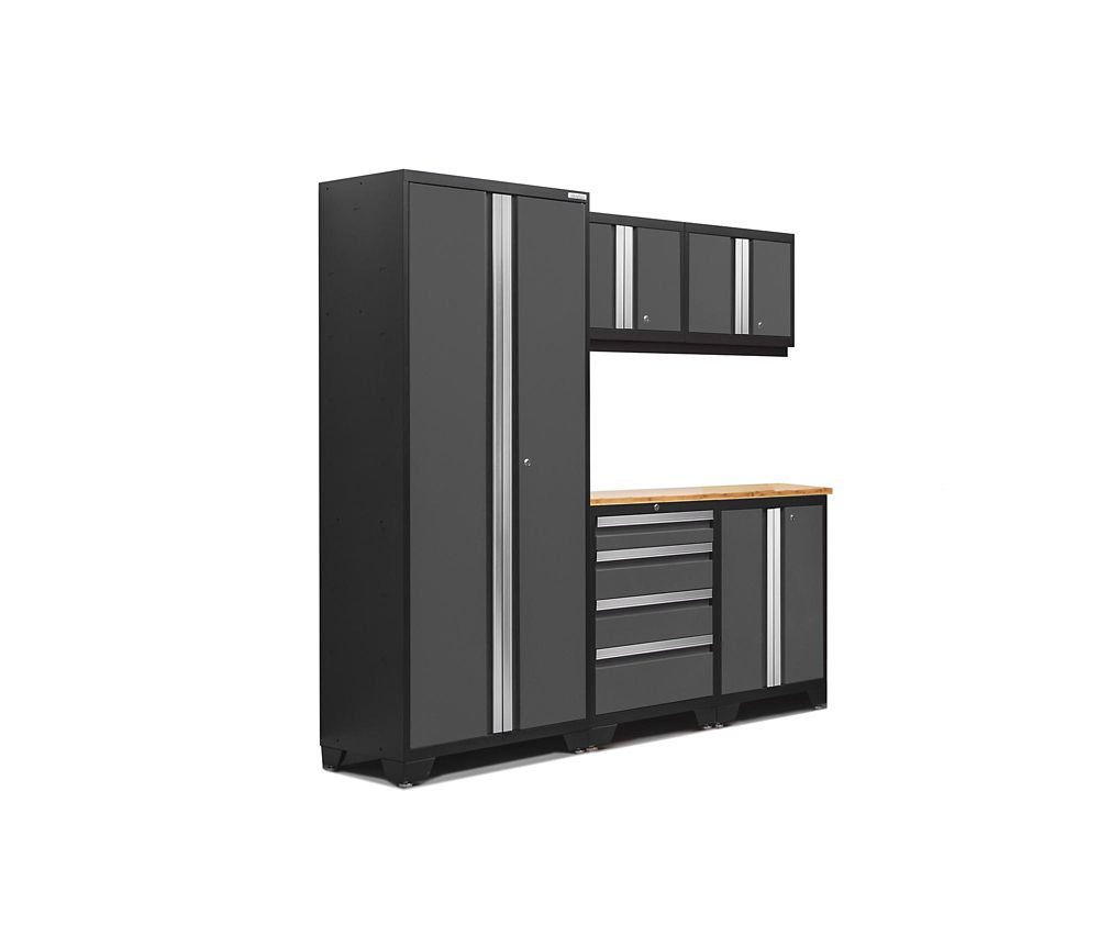 NewAge Products Bold 3.0 Series 6-Piece Garage Cabinet Set in Grey