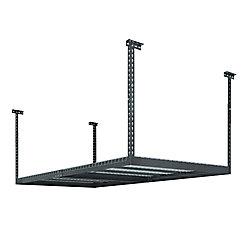 NewAge Products Inc. Performance 96-inch L x 48-inch W x 42-inch H Adjustable VersaRac Ceiling Storage Rack in Grey