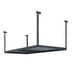 Performance 96-inch L x 48-inch W x 42-inch H Adjustable VersaRac Ceiling Storage Rack in Grey