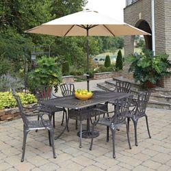 Home Styles Ensemble dinant 7PC Largo w / parapluie