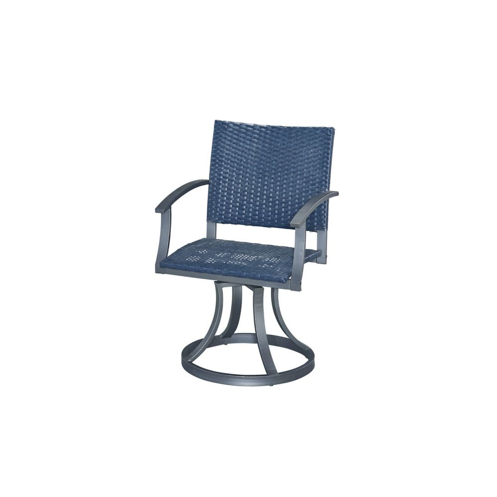 Home Styles Stone Veneer Outdoor Swivel Chair