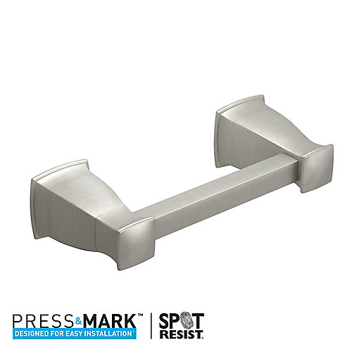 Hensley Pivoting Toilet Paper Holder with Press and Mark in Brushed Nickel