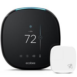 ecobee Smart Wi-Fi Thermostat with Room Sensor and Alexa Voice Service - ENERGY STAR®