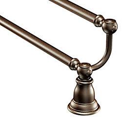 Kingsley 24-Inch Double Towel Bar In Oil Rubbed Bronze