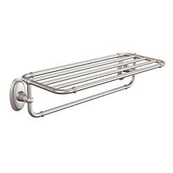 Kingsley Towel Shelf In Brushed Nickel