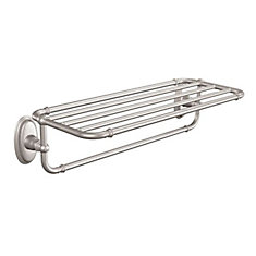 Kingsley Towel Shelf In Brushed Nickel