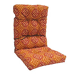 Bozanto Inc. Highback Cushion for Patio Conversation Chair in Brown