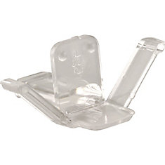 Window Screen Retainer Clips, Clear Plastic
