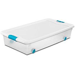 Sterilite 53L Wheeled latching Box