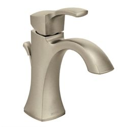 MOEN Voss Single Hole Single-Handle High Arc Bathroom Faucet with Lever Handle in Brushed Nickel