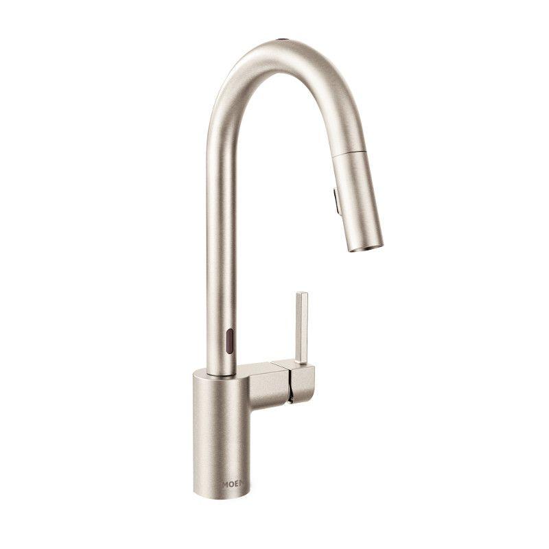 Moen Benton Single Handle Pull Down Kitchen Faucet In