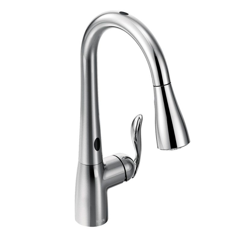 Moen Arbor Single-Handle Pull-Down Sprayer Touchless Kitchen Faucet With Motionsense In Chrome