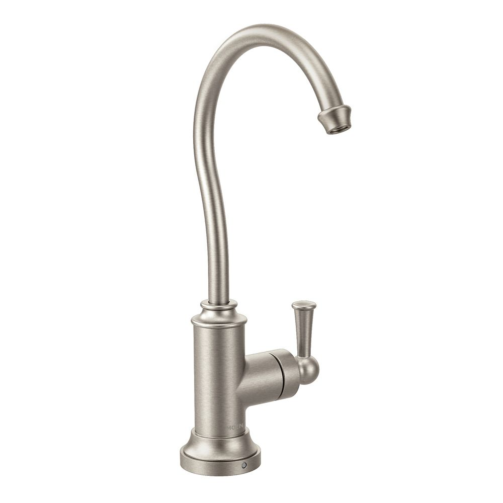 Moen Sip Traditional One-Handle High Arc Beverage Faucet in Spot Resist Stainless (Valve Sold Separately)