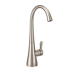 MOEN Sip Transitional One-Handle High Arc Beverage Faucet in Spot Resist Stainless (Valve Sold Separately)