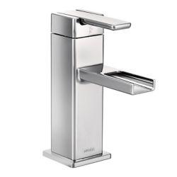 MOEN Robinet de lavabo, arc moyen, 1poignée perpendiculaire, 1trou, chrome