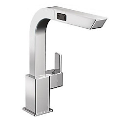 MOEN 90-Degree Single-Handle High Arc Pullout Kitchen Faucet In Chrome