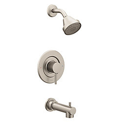 MOEN Align Single-Handle Posi-Temp Tub and Shower Faucet Trim Kit in Brushed Nickel (Valve Sold Separately)