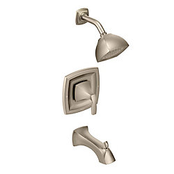 Voss Posi-Temp 1-Handle Tub And Shower Trim Kit In Brushed Nickel (Valve Sold Separately)